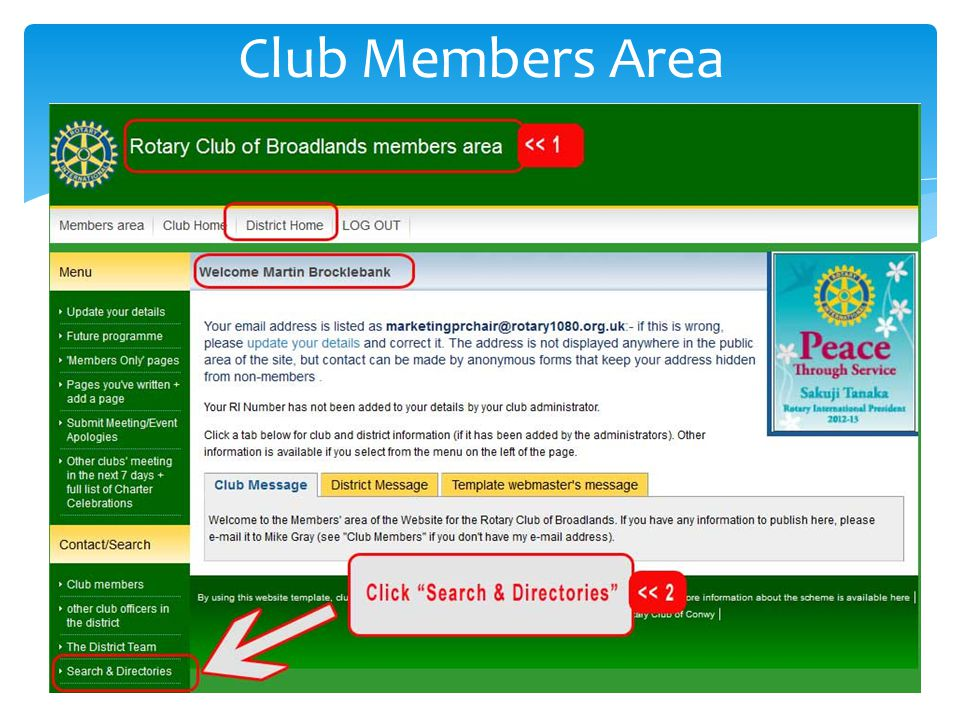 Club Members Area