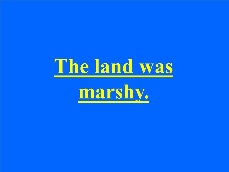 The land was marshy.