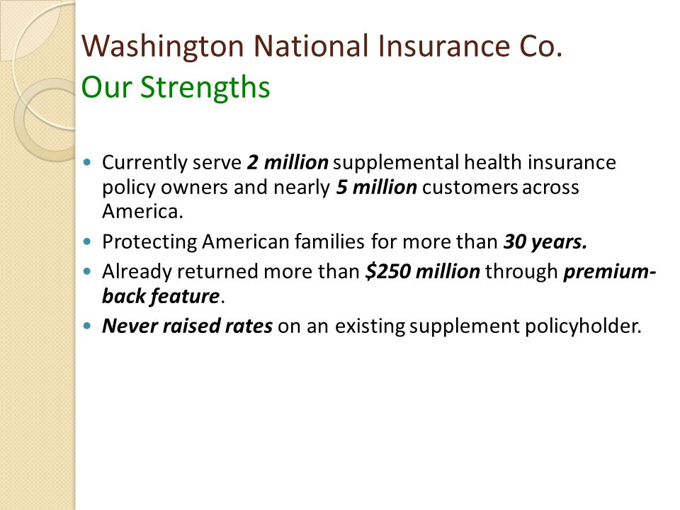 Washington National Insurance Co.