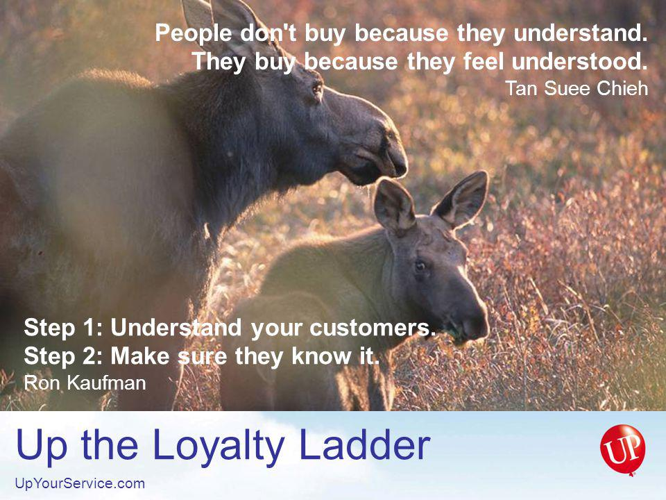 Up the Loyalty Ladder UpYourService.com Rule #1: The customer is always right.