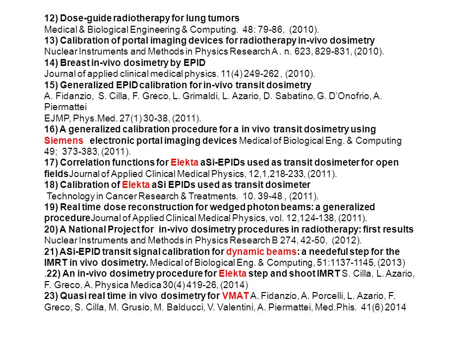 12) Dose-guide radiotherapy for lung tumors Medical & Biological Engineering & Computing.