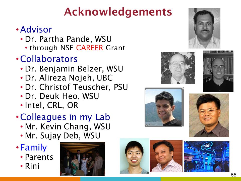 Conference Publications contd. 7.A. Nojeh, P. Pande, A. Ganguly, S. Sheikhaei, B. Belzer and A. Ivanov,