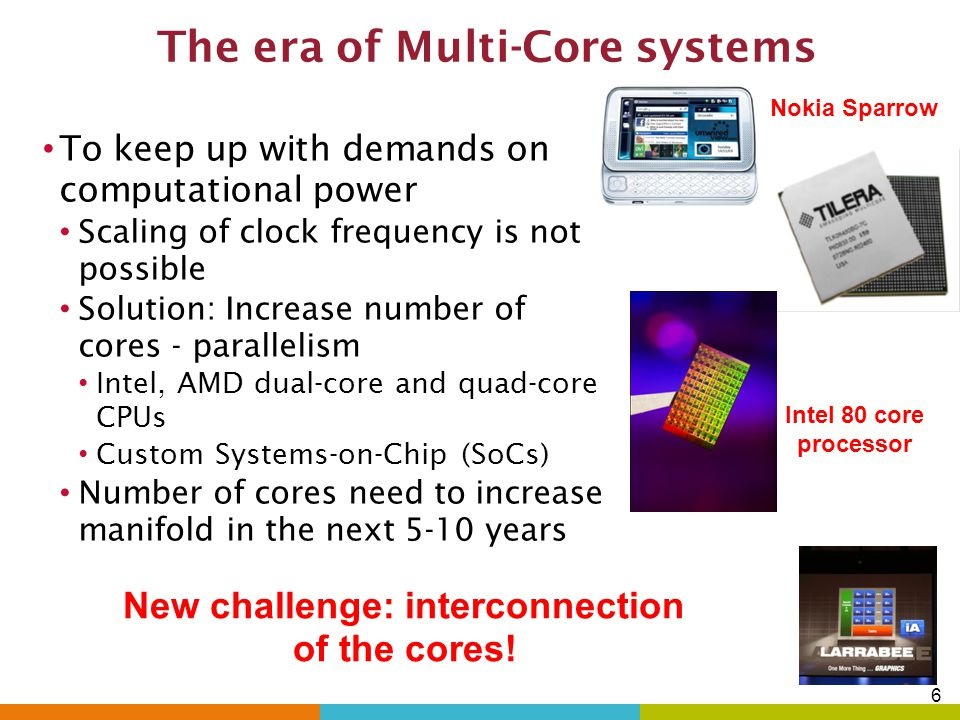 16 Outline Introduction Multi-core & Network-on-Chip (NoC) paradigm Performance limitations of conventional planar NoCs Alternative interconnect technology Wireless NoC (WiNoC) On-chip antennas Architecture & communication protocols Performance evaluation Reliability Error Control Coding Wireline links Wireless links Future Directions