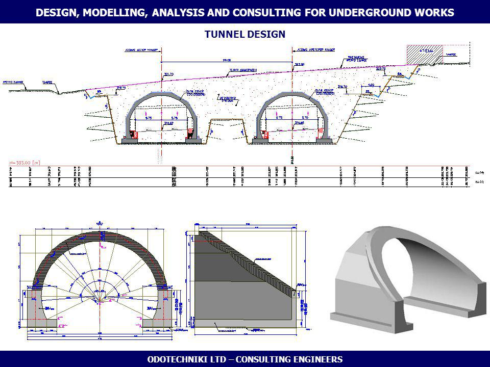 ODOTECHNIKI LTD – CONSULTING ENGINEERS DESIGN, MODELLING, ANALYSIS AND CONSULTING FOR UNDERGROUND WORKS TUNNEL DESIGN