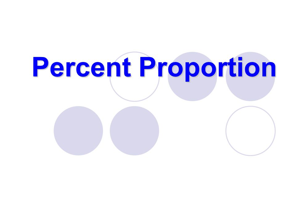 Percent Proportion