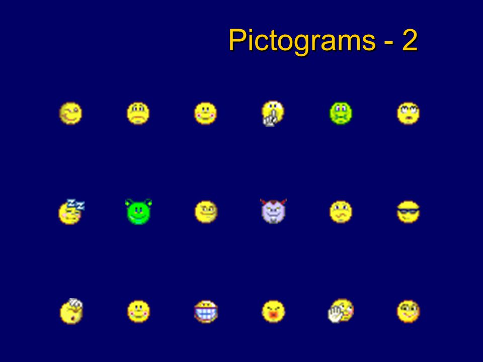 Pictograms - 1