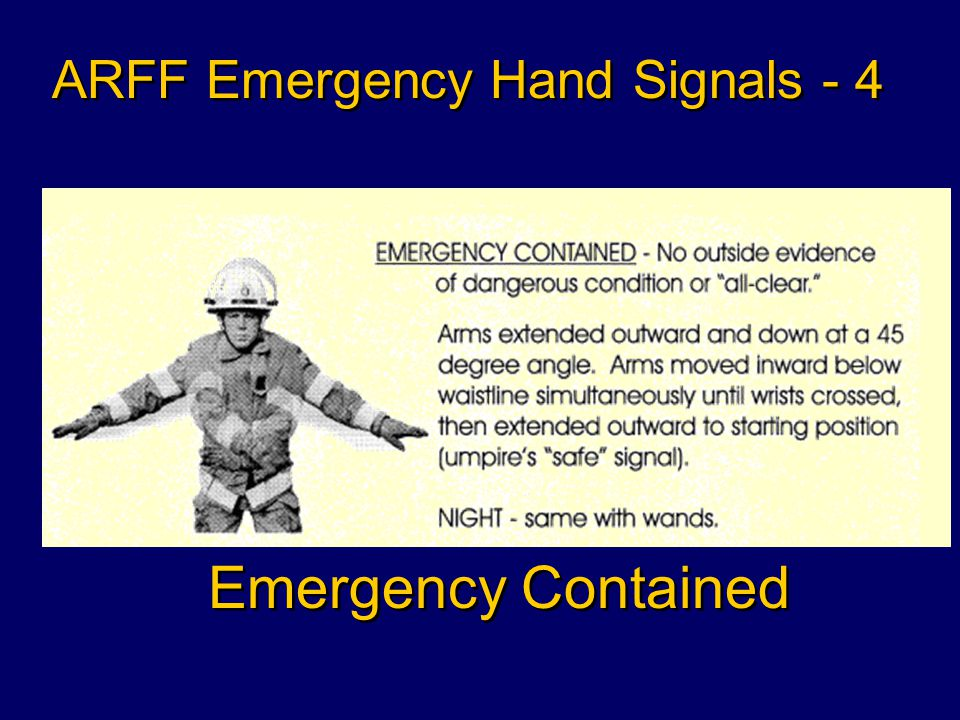 Recommend Stop ARFF Emergency Hand Signals - 3