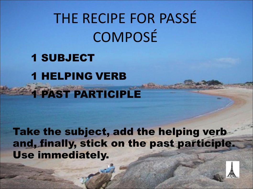 FORMING REGULAR PAST PARTICIPLES of 're' verbs For verbs ending in 're', remove the 're' and add 'u' – so… Vendre Vendu Fondre Fondu Répondre Répondu