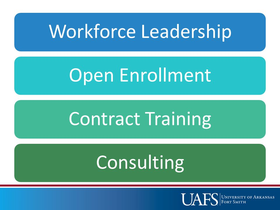 Workforce LeadershipOpen EnrollmentContract TrainingConsulting