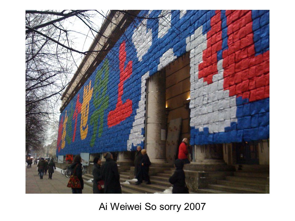Ai Weiwei So sorry 2007