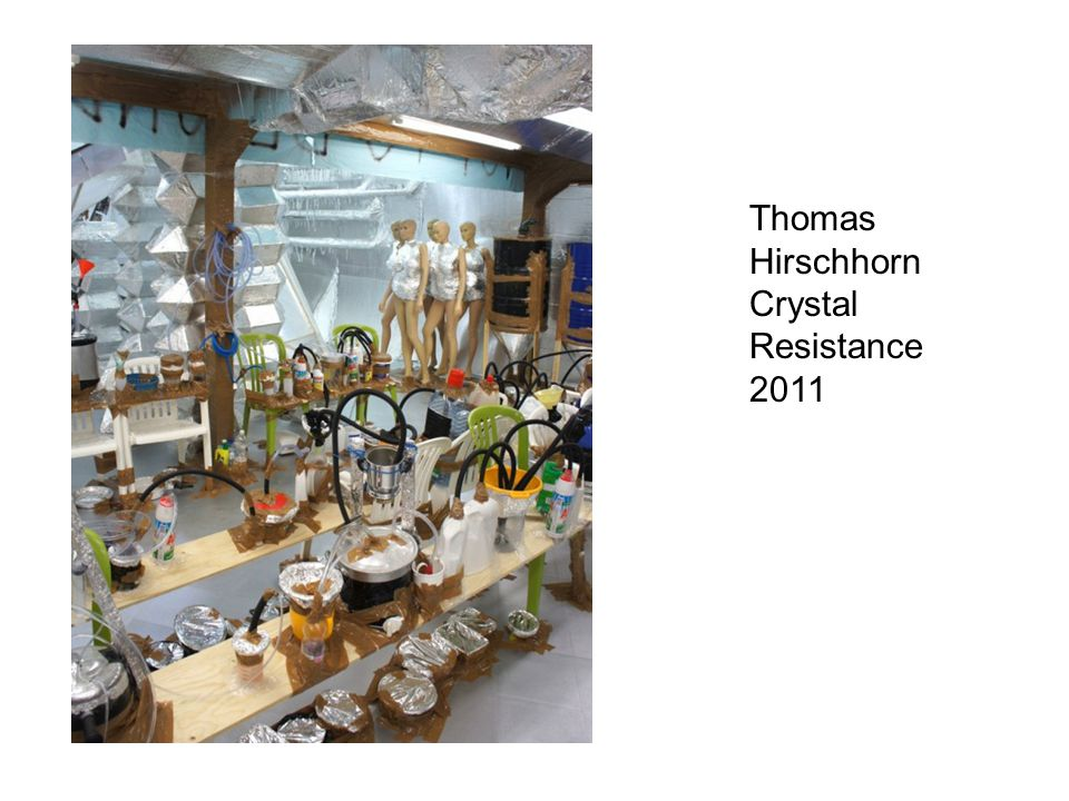 Thomas Hirschhorn Crystal Resistance 2011