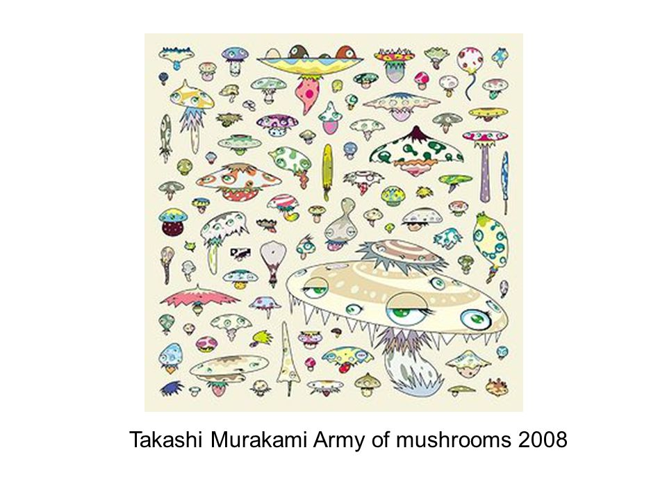 Takashi Murakami Army of mushrooms 2008