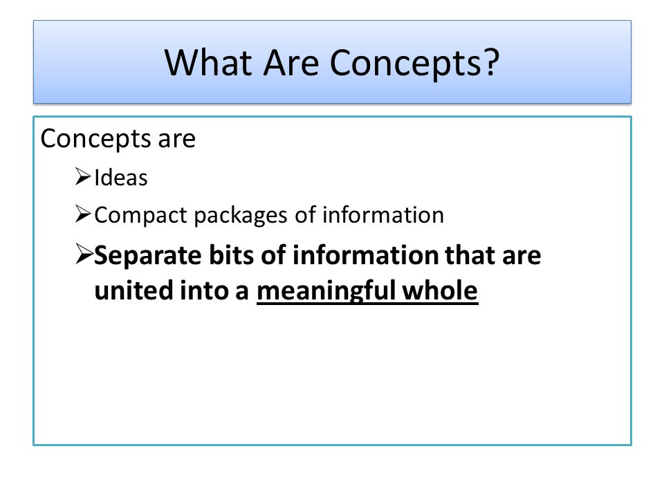 What Are Concepts.
