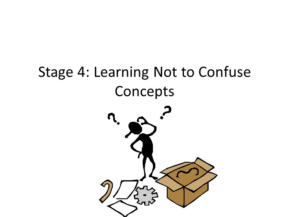 Stage 4: Learning Not to Confuse Concepts
