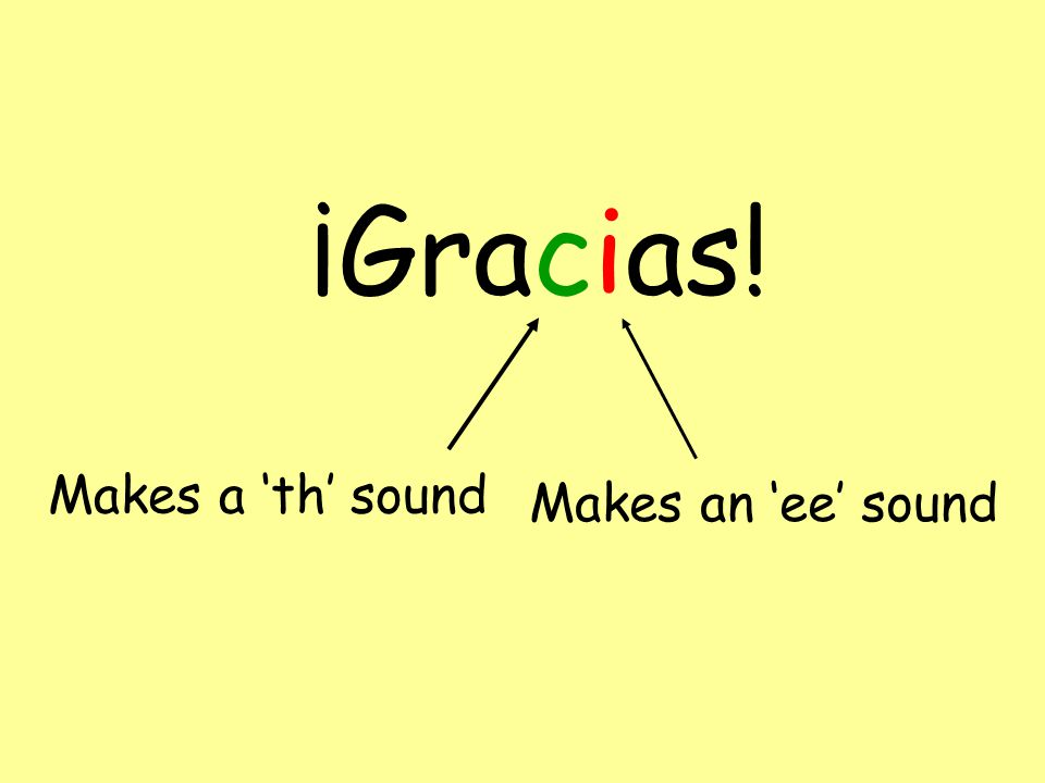 ¡Adiós! Makes an 'ee' sound Make sure you put more effort into this sound