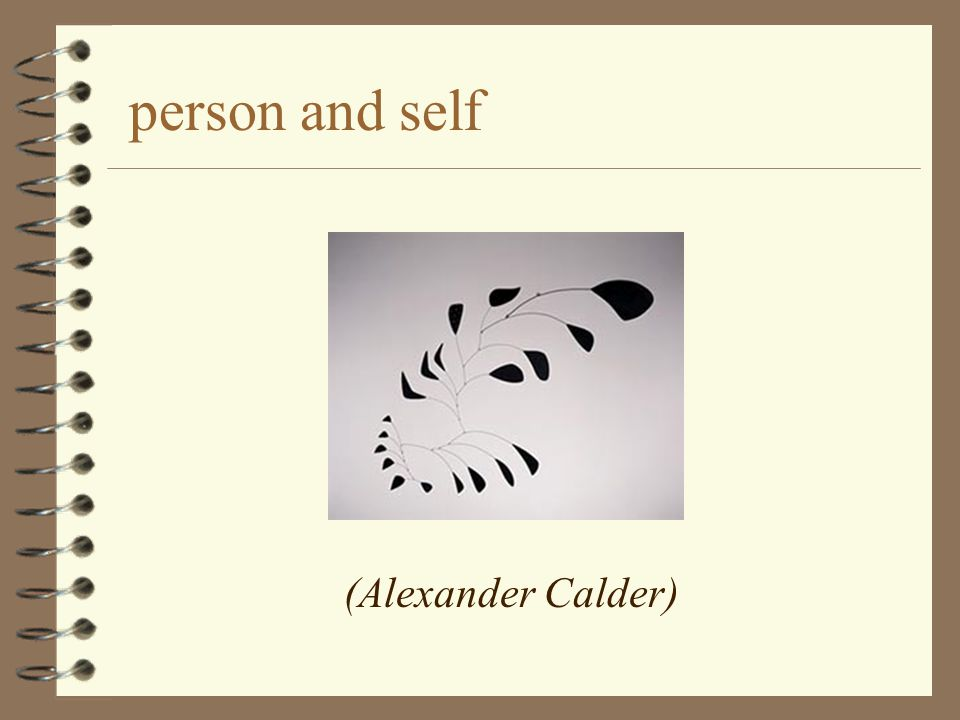 person and self (Alexander Calder)