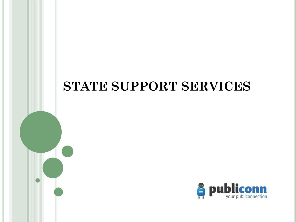 STATE SUPPORT SERVICES
