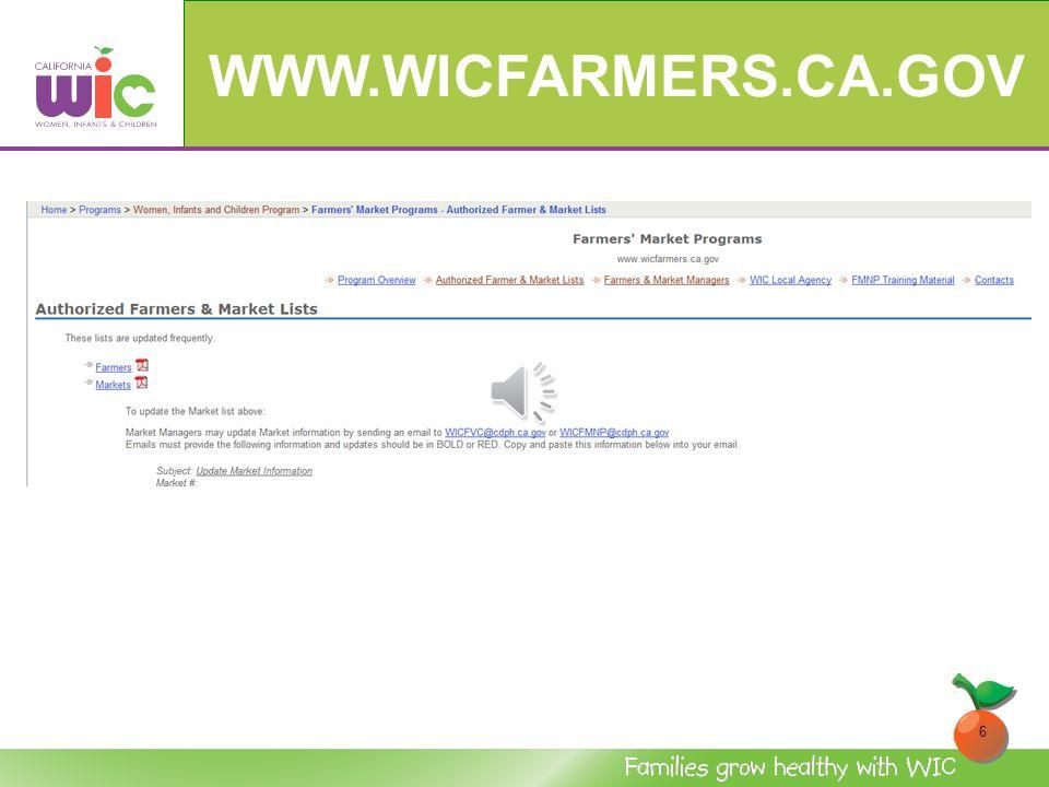 WWW.WICFARMERS.CA.GOV 5