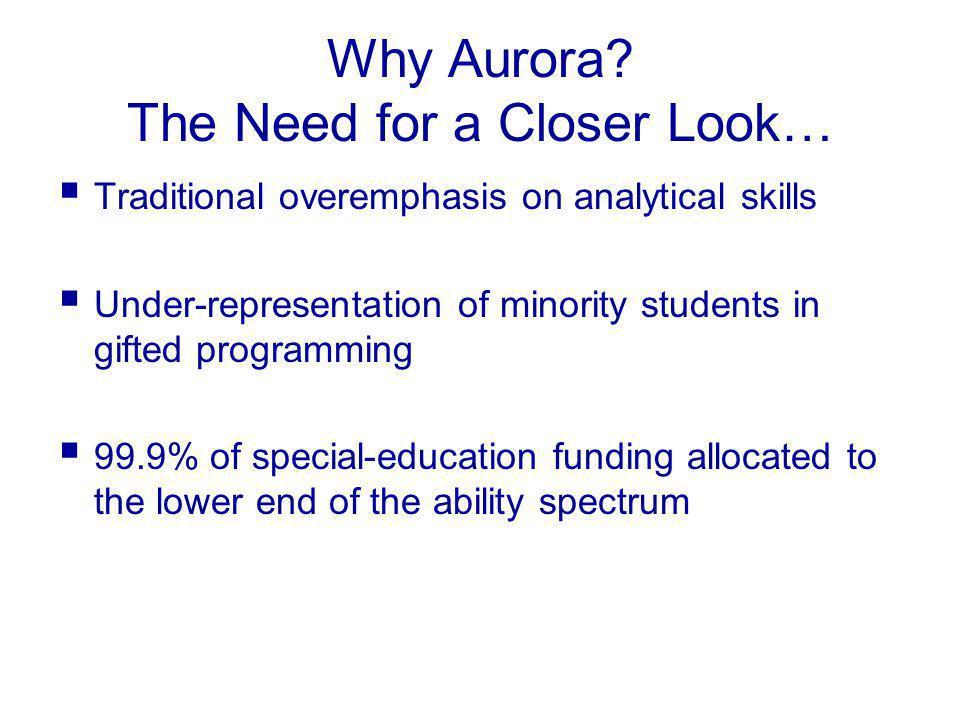 Why Aurora.