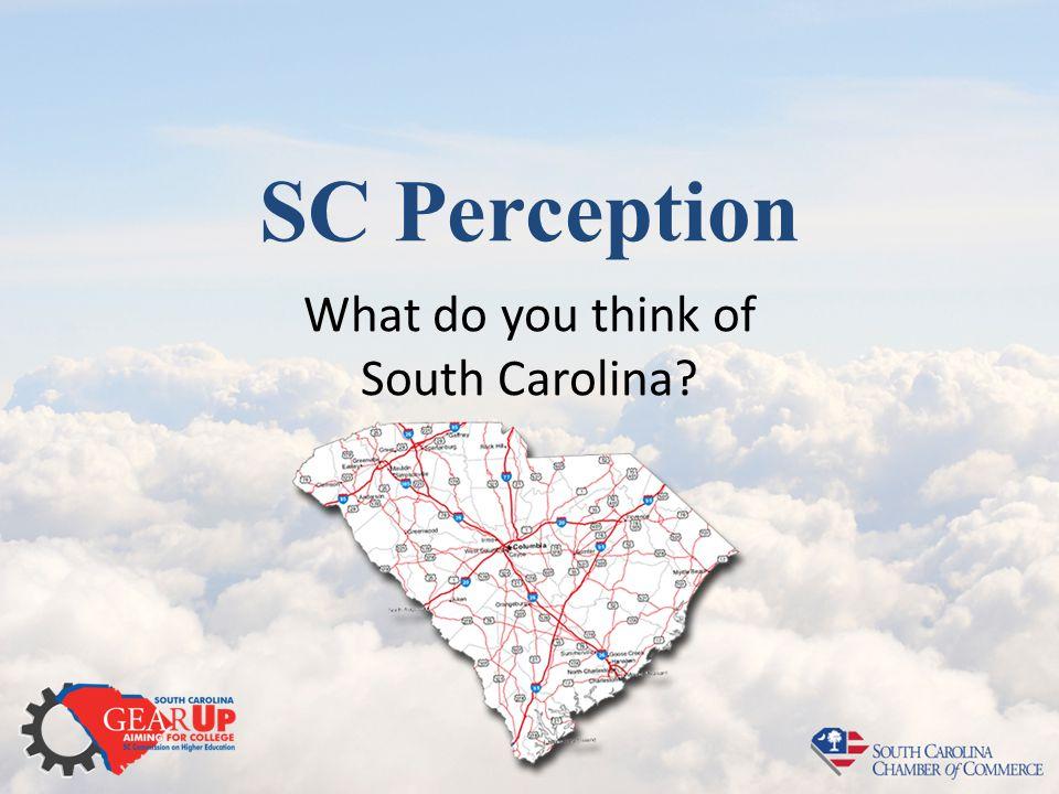 SC Perception What do you think of South Carolina?