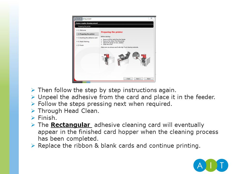  Then follow the step by step instructions again.