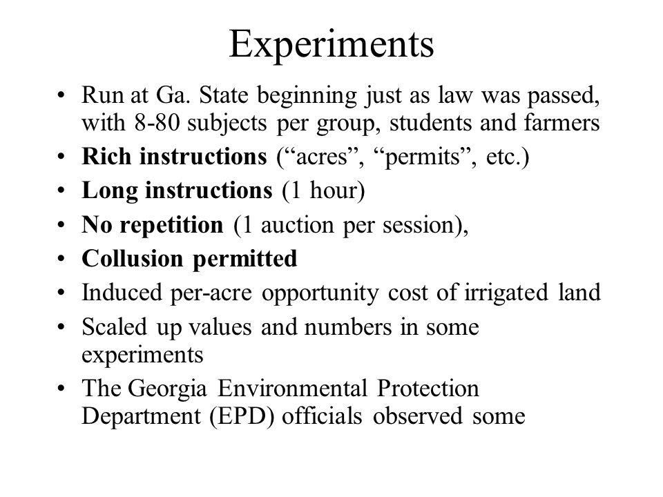 Experiments Run at Ga.