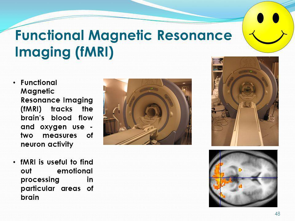 Functional Magnetic Resonance Imaging (fMRI) Functional Magnetic Resonance Imaging (fMRI) tracks the brain's blood flow and oxygen use - two measures