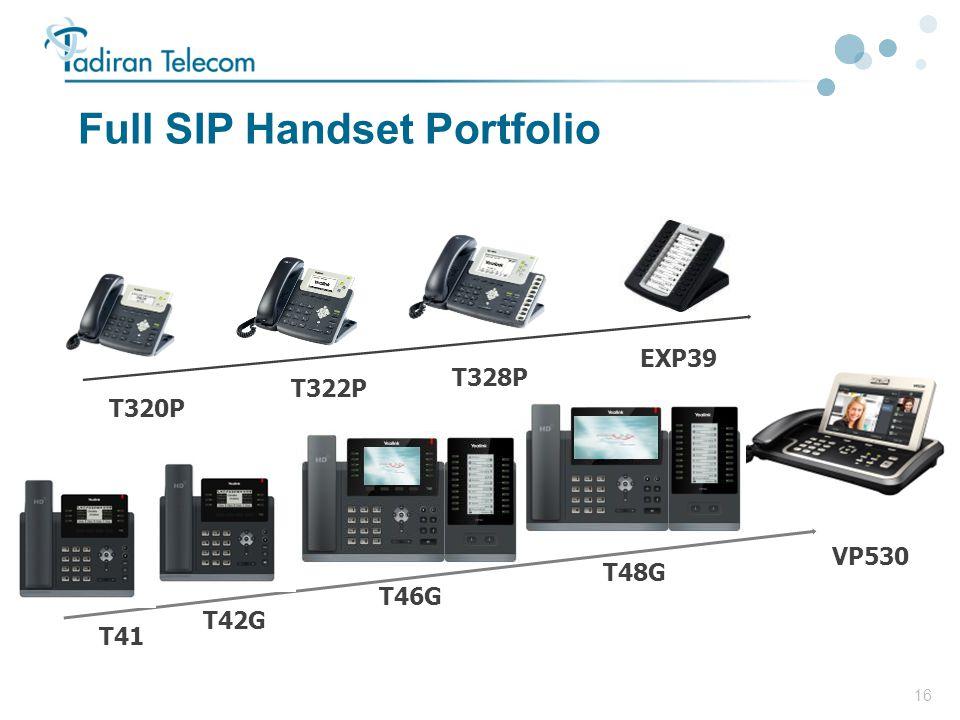 16 Full SIP Handset Portfolio T42G VP530 T46G EXP39 T322P T320P T328P T41 T48G
