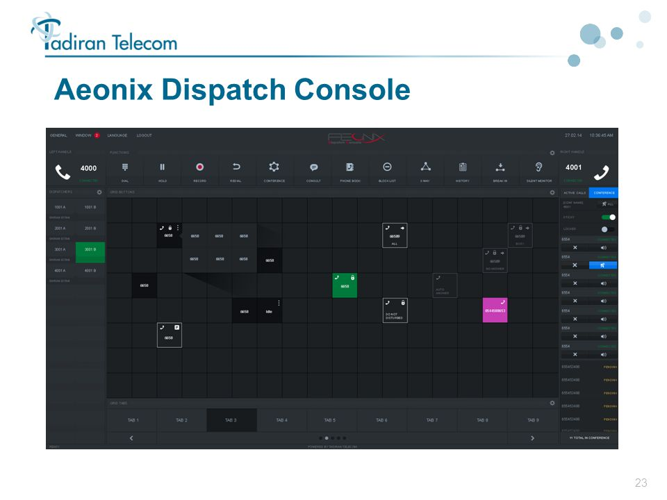 23 Aeonix Dispatch Console