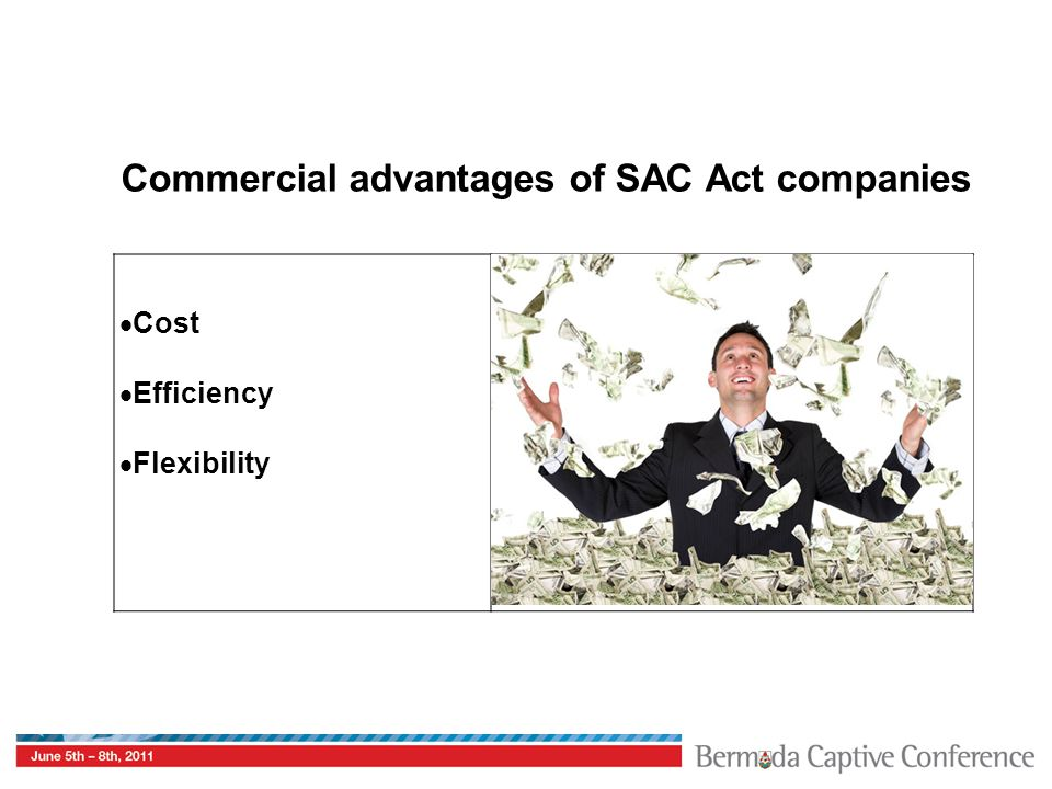 Commercial advantages of SAC Act companies  Cost  Efficiency  Flexibility