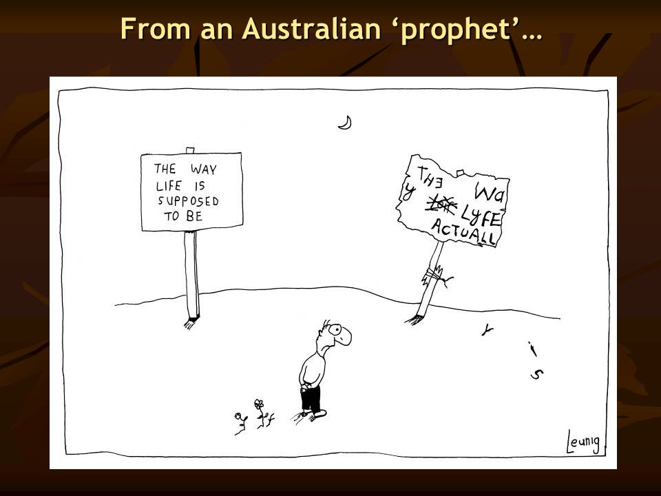 From an Australian 'prophet'…