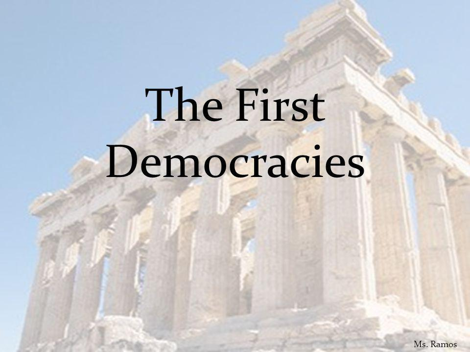 1. Which form of government was first used in Ancient Greece? A. monarchy Ms. Ramos
