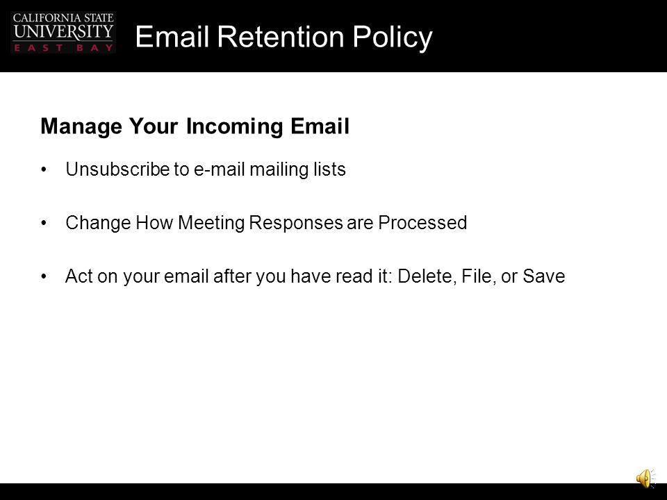 Email Retention Policy SPARK Instant Messenger ITS supported Chat room, broadcast IM, send files Bring in contacts from MSN, AOL, Yahoo Campus contact