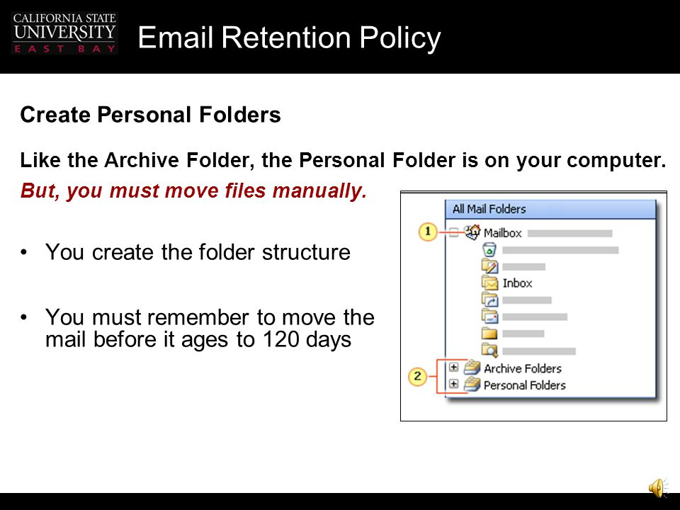 Email Retention Policy Excluding Calendar from AutoArchive Right-click your Personal Calendar and click Properties on the shortcut menu. Click the Aut