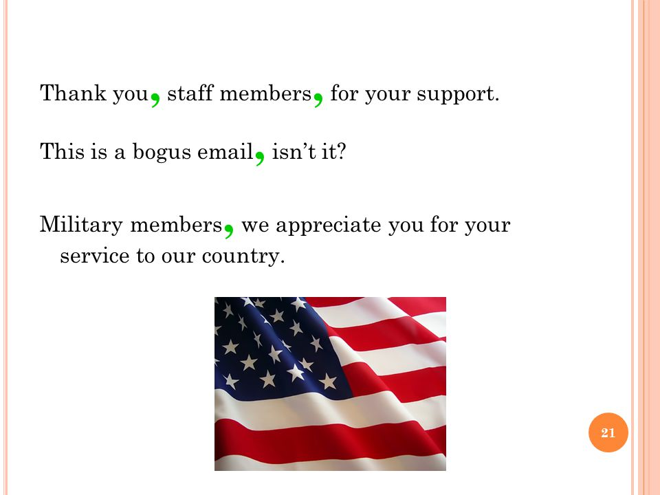 Thank you, staff members, for your support. This is a bogus email, isn't it.