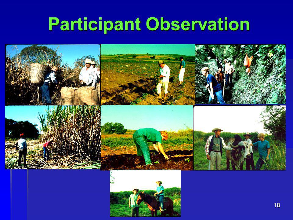 18 Participant Observation