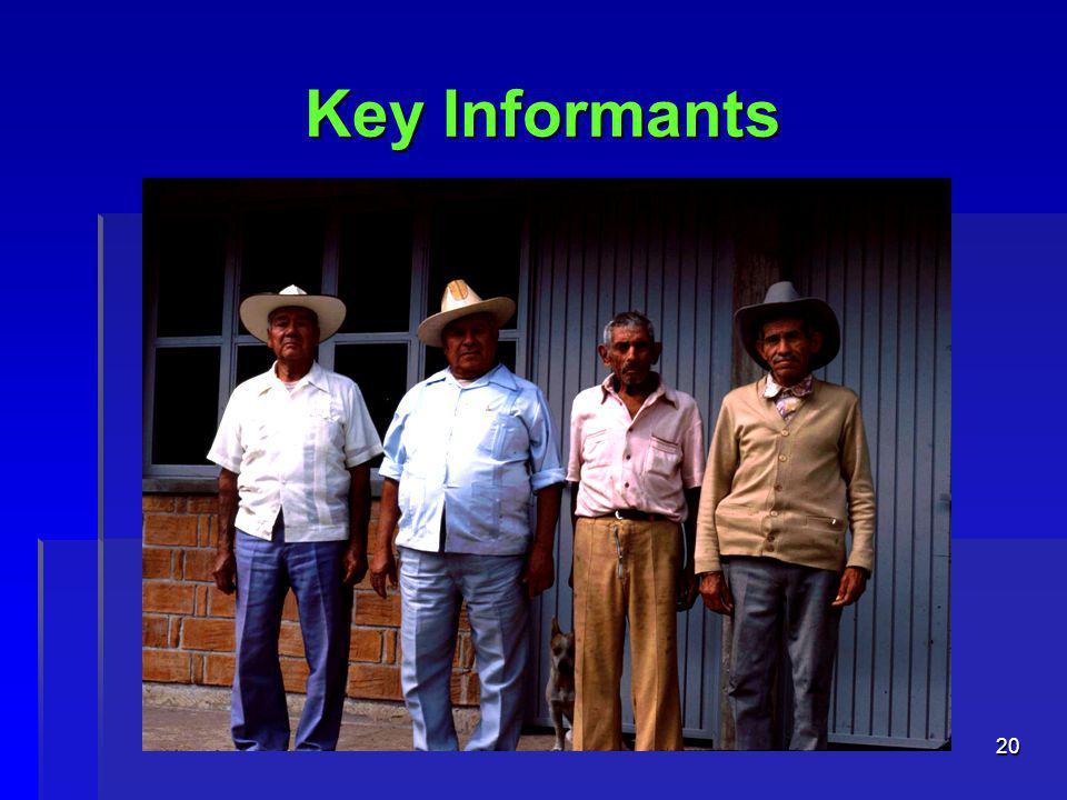 20 Key Informants