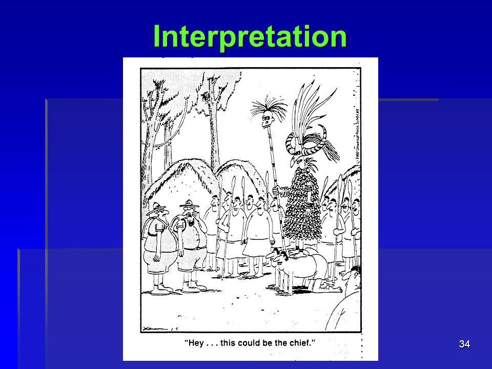 34 Interpretation