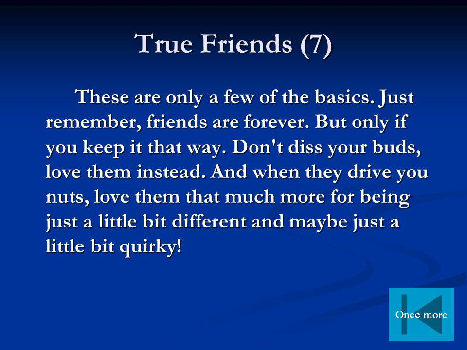 Questions for discussion 1.What is your definition of friendship.