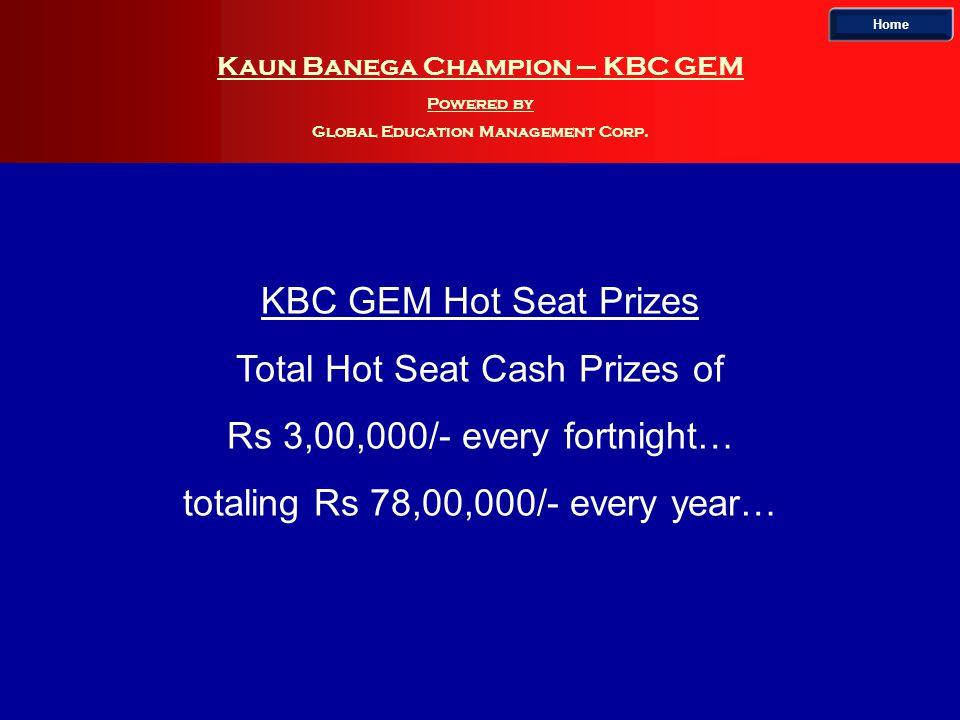 Kaun Banega Champion – KBC GEM Powered by Global Education Management Corp.