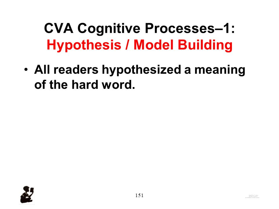 150 Cognitive Processes in CVA-continued 4.Used information processing/knowledge acquisition processes (Sternberg, 1987).