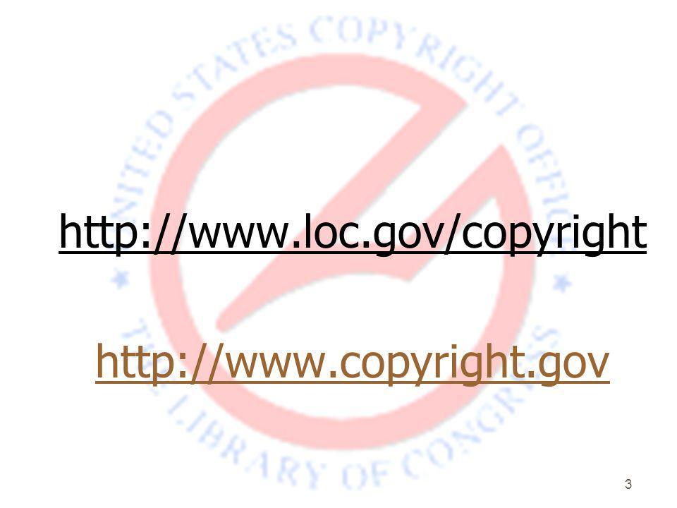 3 http://www.loc.gov/copyright http://www.copyright.gov