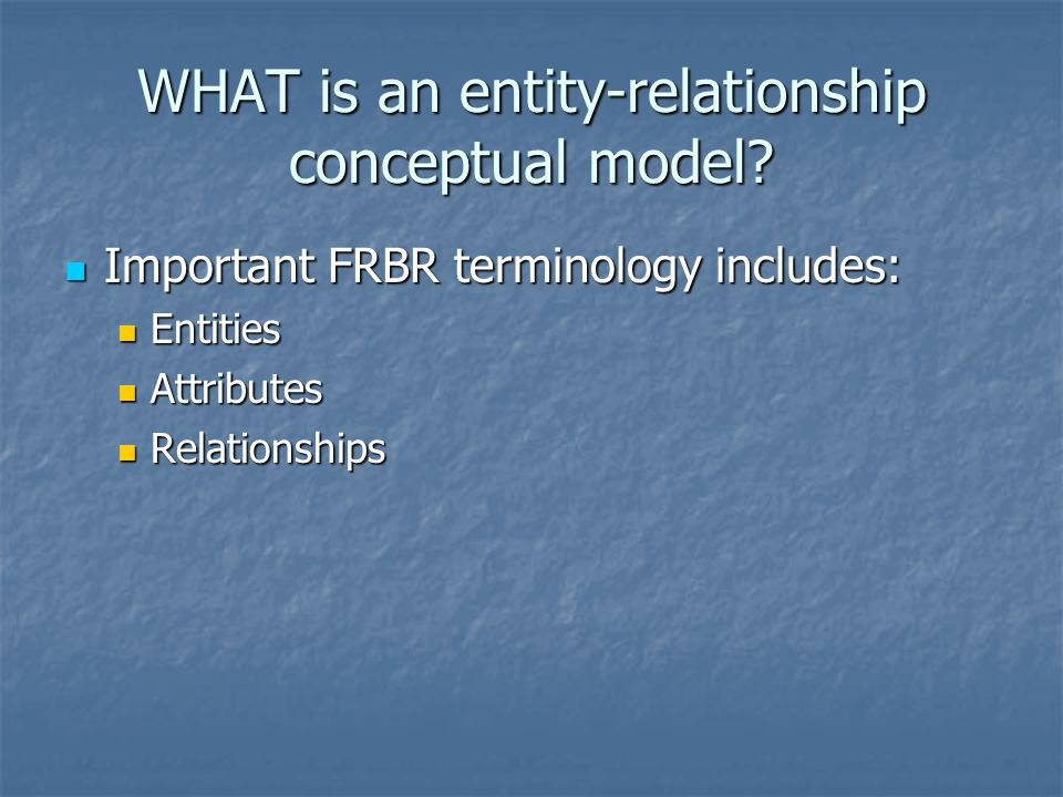 WHAT is an entity-relationship conceptual model.