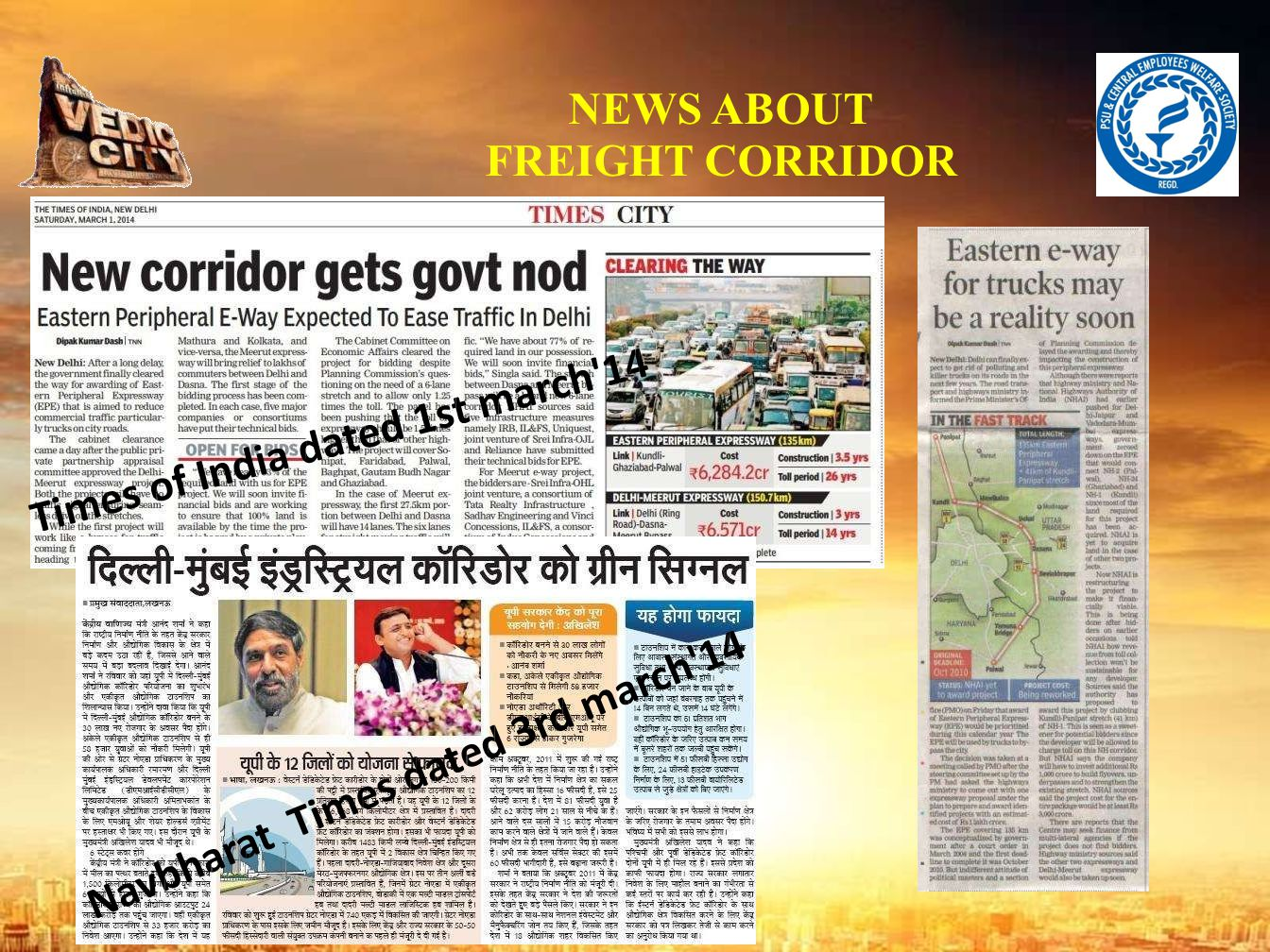 DEVELOPMENT GREATER NEWS ABOUT NOIDA Navbharat times dated 5th March'14 Dainik Jagran dated 2nd march'14