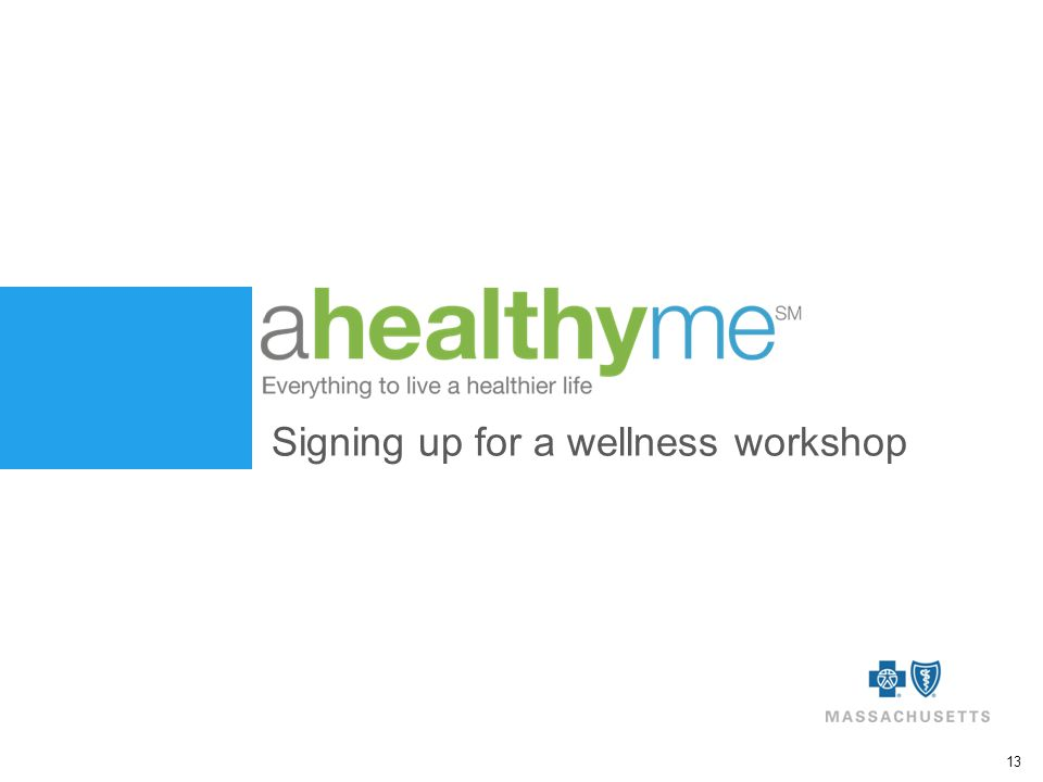 13 Signing up for a wellness workshop