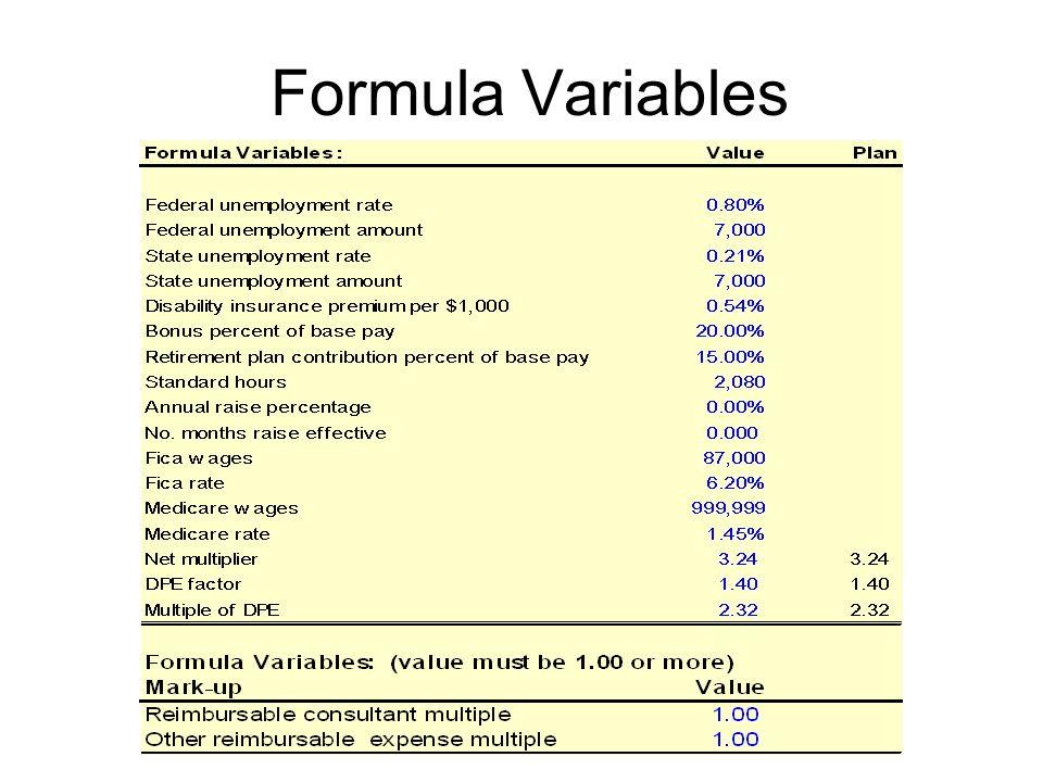 Formula Variables