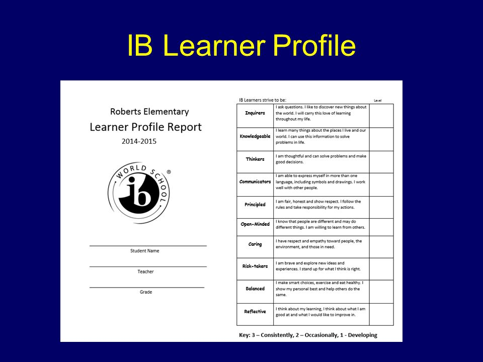 Fifth Grade IB Units of Study
