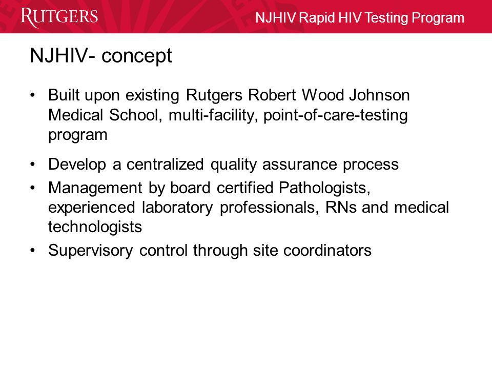 NJHIV Rapid HIV Testing Program NJ HIV MOBILE COUNSELOR PILOT PROGRAM