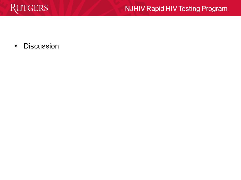 NJHIV Rapid HIV Testing Program Discussion