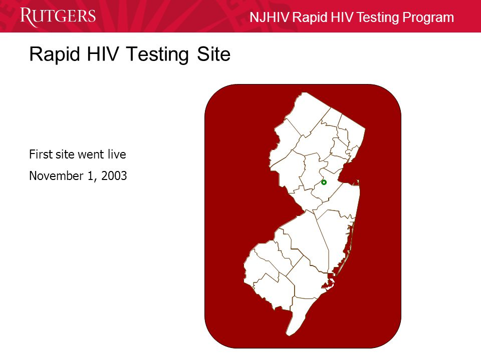 NJHIV Rapid HIV Testing Program New Jersey New Jersey is a high prevalence state 5th in the US in cumulative reported AIDS cases, 3rd in cumulative reported pediatric AIDS cases, 1st in the proportion of women with AIDS among its cumulative reported AIDS cases.